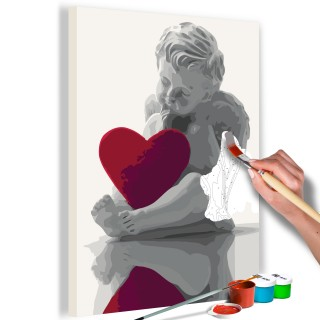 Πίνακας για να τον ζωγραφίζεις - Angel (Red Heart)