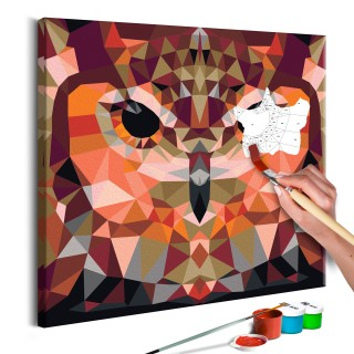 Πίνακας για να τον ζωγραφίζεις - Owl (Geometrical)