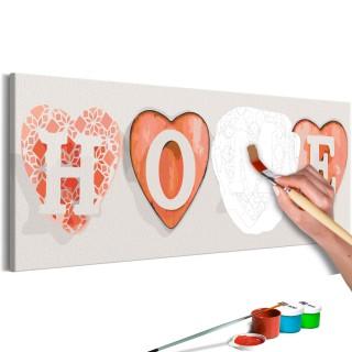 Πίνακας για να τον ζωγραφίζεις - Four Hearts
