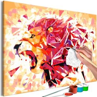 Πίνακας για να τον ζωγραφίζεις - Abstract Lion