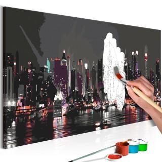 Πίνακας για να τον ζωγραφίζεις - Night Panorama