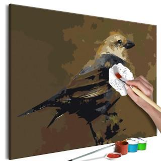 Πίνακας για να τον ζωγραφίζεις - Bird on Branch