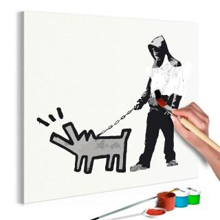 Πίνακας για να τον ζωγραφίζεις - Dog Barking