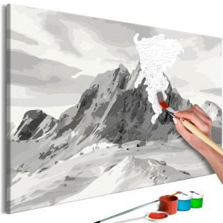 Πίνακας για να τον ζωγραφίζεις - Alps Panorama