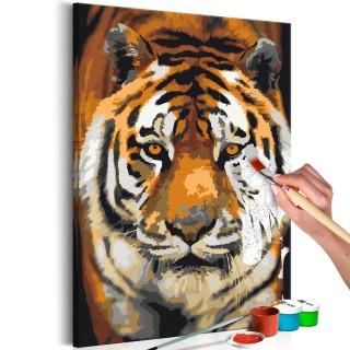 Πίνακας για να τον ζωγραφίζεις - Asian Tiger