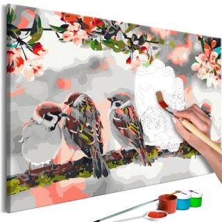 Πίνακας για να τον ζωγραφίζεις - Birds on the Branch