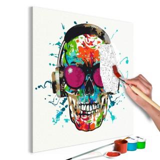 Πίνακας για να τον ζωγραφίζεις - Disc Jockey