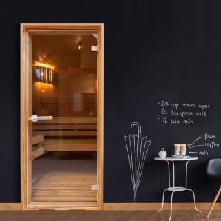 Φωτοταπετσαρία πόρτας - Sauna