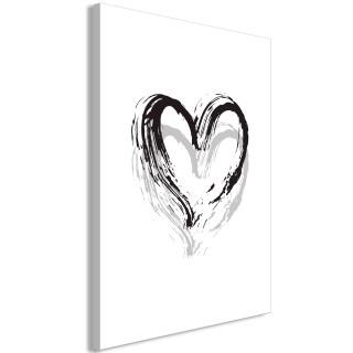 Πίνακας - Brush Heart (1 Part) Vertical
