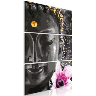 Πίνακας - Buddha and Flower (3 Parts) Vertical