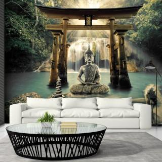 Αυτοκόλλητη φωτοταπετσαρία - Buddha Smile