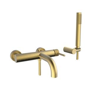 Μπαταρία λουτρού Armando Vicario Industrial  Brushed Gold 512100-201