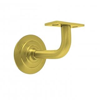 Στήριγµα ξύλινης κουπαστής ορειχάλκινο σε Ματ χρυσό 073-x001 Metalor
