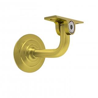 Στήριγµα ξύλινης κουπαστής ορειχάλκινο σπαστό σε Ματ χρυσό 074-x001 Metalor