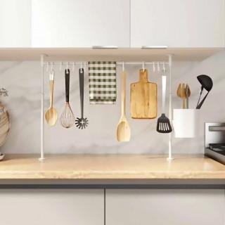 Λευκή Κρεμάστρα Μεταλλική 12 Θέσεων Για Εργαλεία Κουζίνας Επεκτεινόμενη 39-61εκ Umbra 1015061-660