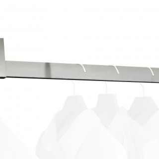 Ορθογώνιος Σωλήνας ντουλάπας για κρεμάστρες Emuca Luxe 7100762