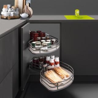 Μηχανισμός κουζίνας για τυφλό ντουλάπι φασόλι Opera Fly Με Φρένο για Πόρτα 45εκ σε χρώμα Ανθρακί για Αριστερό Άνοιγμα