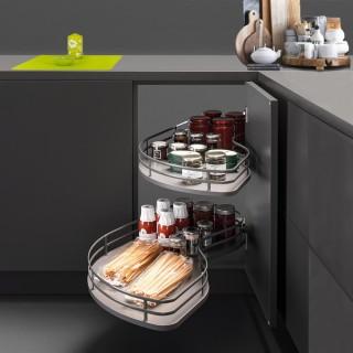 Μηχανισμός κουζίνας για τυφλό ντουλάπι φασόλι Opera Fly Με Φρένο για Πόρτα 45εκ σε χρώμα Ανθρακί για Δεξί  Άνοιγμα