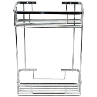 Σπογγοθήκη μπάνιου Διπλή Μεταλλική σειρά 6584 (27x13x38cm)