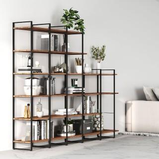Δομή για βιβλιοθήκες Emuca Lader, ύψους 830 mm από ατσάλι σε μαύρο φινίρισμα 4450014 (χωρίς τα ράφια)