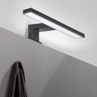 Λυχνία LED πάνω από καθρέφτη, 300 mm, IP44, ψυχρό λευκό φως, κατασκευή απο πλαστικό Μαύρο 5149114