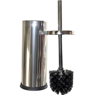 Πιγκάλ Μπάνιου Χρωμέ με μαύρο βουρτσάκι