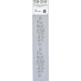 Stencil για Διακόσμηση Τοίχου Flower ToDo Creative Ideas 8x36cm No205