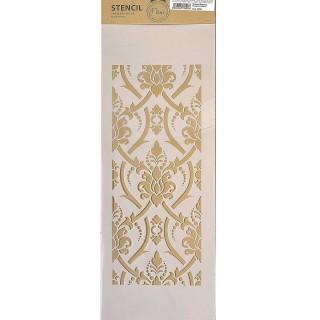 Stencil για Διακόσμηση Τοίχου Braided Damask Fleur 18x50cm 75096