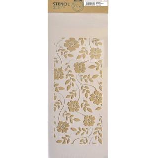 Stencil για Διακόσμηση Τοίχου Daffodlls Fleur 18x50cm 75095