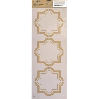 Stencil για Διακόσμηση Τοίχου Arabesque Fleur 18x50cm 75486