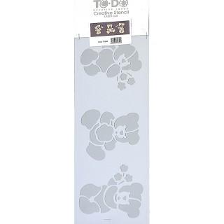 Stencil για Διακόσμηση Τοίχου Teddy Bear ToDo Creative Ideas 15x40cm 71653
