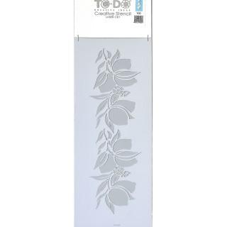Stencil για Διακόσμηση Τοίχου Flower ToDo Creative Ideas 15x40cm No100