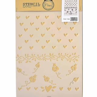 Stencil για Διακόσμηση Τοίχου Seasonal Garlands Fleur 21x29,7cm 71636