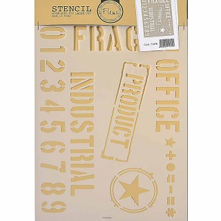 Stencil για Διακόσμηση Τοίχου Industrial Fleur 21x29,7cm 71375