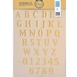 Stencil για Διακόσμηση Τοίχου Alphabet Fleur 21x29,7cm No601