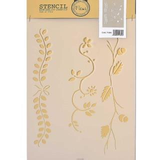 Stencil για Διακόσμηση Τοίχου Fleur 21x29,7cm No605 71384