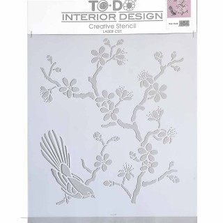 Stencil για Διακόσμηση Τοίχου ToDo Creative Ideas 35x40cm No1 71615