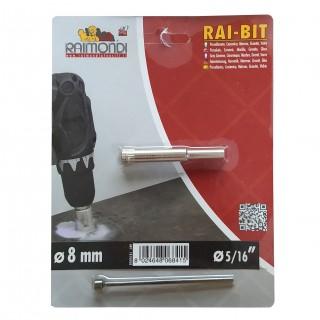 Τρυπάνι Διαμαντιού υγρής κοπής για γυαλί, κεραμικά, πλακίδια  8mm Rai-Bit Raimndi