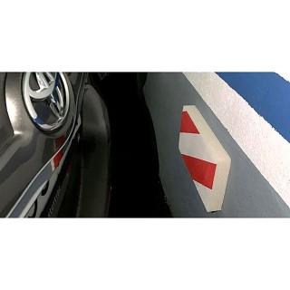 Αυτοκόλλητο Προστατευτικό Μετωπικό Για Τοίχους Parking Κόκκινο Λευκό Inofix 4103-1