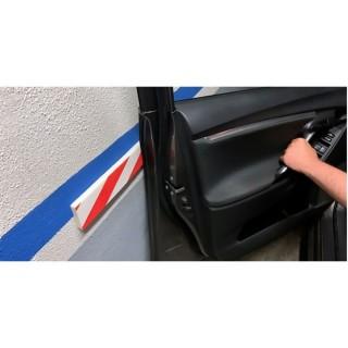 Αυτοκόλλητο Προστατευτικό Πλευρικό Για Τοίχους Parking Κόκκινο Λευκό Inofix 4104-1