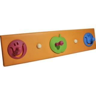 Κρεμάστρα  3 Θέσεων ξύλινη με δερματίνη  και παιδικά σχέδια