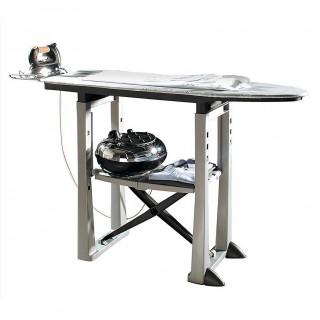 Σιδερώστρα Ατμού-Boiler 40x19x113cm Πλαστική 7.4kg με Ράφι και Ρυθμιζόμενο Ύψος Γκρι TREND BAMA ITALY