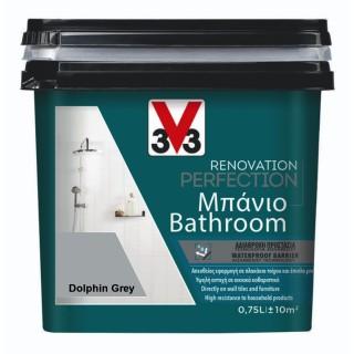 Χρώμα Νερού Ανακαίνισης Μπάνιου V33 RENOVATION PERFECTION BATHROOM 0,75LT Dolphine Grey