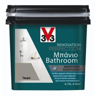 Χρώμα Νερού Ανακαίνισης Μπάνιου V33 RENOVATION PERFECTION BATHROOM 0,75LT Taupe