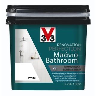 Χρώμα Νερού Ανακαίνισης Μπάνιου V33 RENOVATION PERFECTION BATHROOM 0,75LT White
