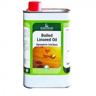 Βρασμένο Λινέλαιο Σατινέ ξύλου Boiled Linseed Oil 500ml Borma Wachs Άχρωμο