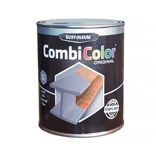Χρώμα Μετάλλων και Αντι-Σκουριακό αστάρι σε ένα της RUST-OLEUM CombiColor® 7300 Λείο γυαλιστερό Γκρί Ral7001 0,75L