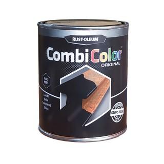 Χρώμα Μετάλλων και Αντι-Σκουριακό αστάρι σε ένα της RUST-OLEUM CombiColor® 7300 Λείο γυαλιστερό  Μαύρο Ral9005 0,75L
