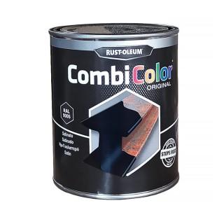 Χρώμα Μετάλλων και Αντι-Σκουριακό αστάρι σε ένα της RUST-OLEUM CombiColor® 7300 Λείο Ημιγυαλιστερό  Μαύρο Ral9005 0,75L