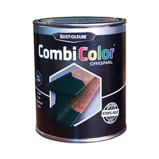 Χρώμα Μετάλλων και Αντι-Σκουριακό αστάρι σε ένα της RUST-OLEUM CombiColor® 7300 Λείο γυαλιστερό  Πράσινο Σκούρο Ral6009 0,75L
